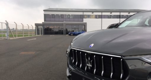 Maserati Levante outside Woodgate Aviation FBO