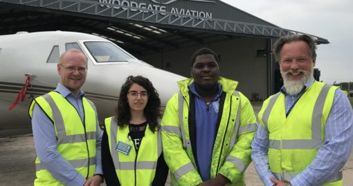 Woodgate Aviation Intern Europe students